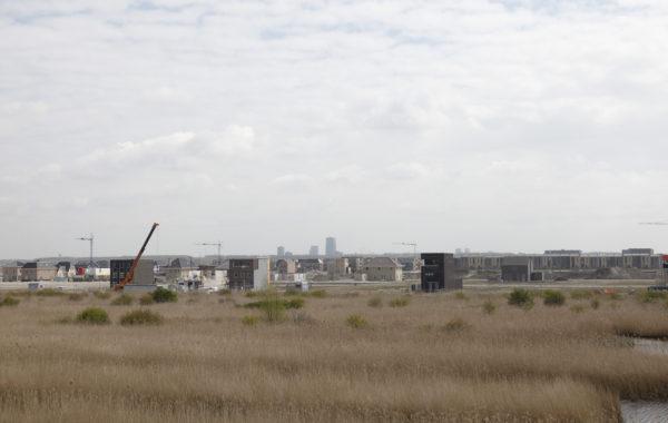 De suburbane stedelijkheid van de nieuwe stad