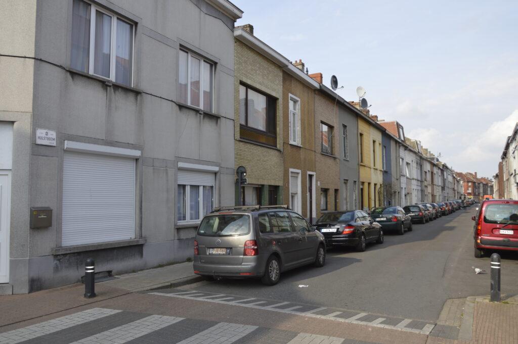 Typische straat in de Gentse wijk Brugse Poort