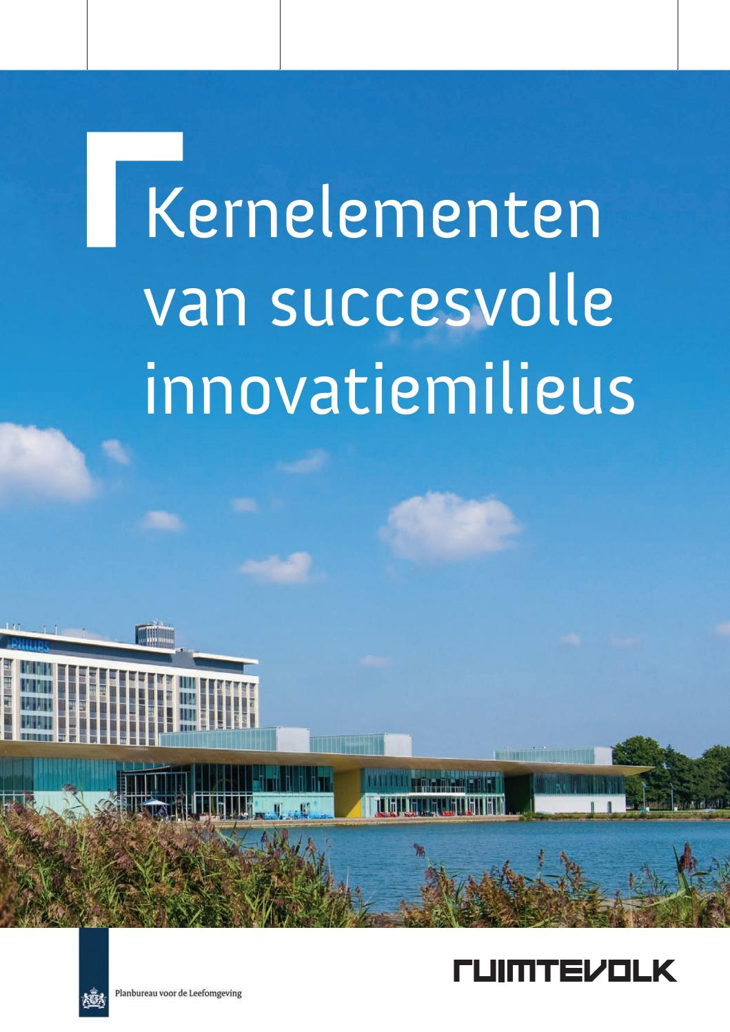 Kernelementen van succesvolle innovatiemilieus