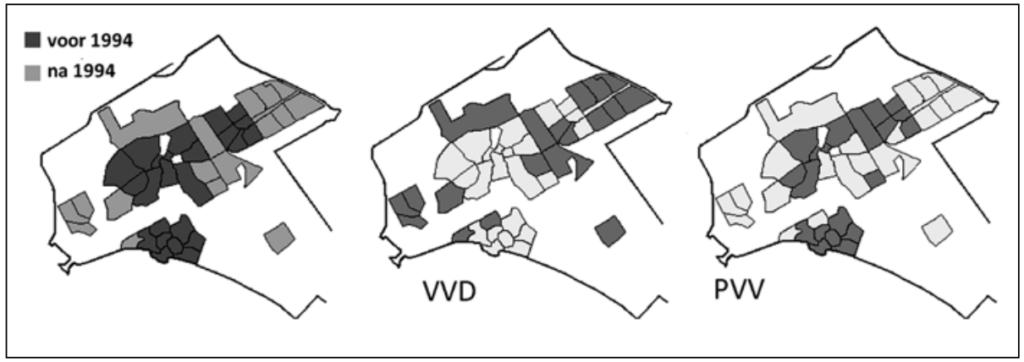 Figuur 2 PVV aanhang rond Amsterdam